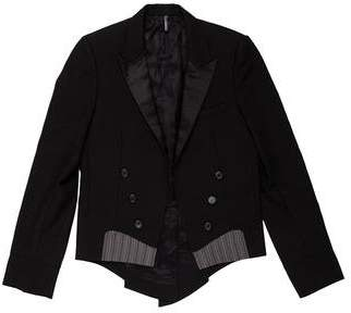 Christian Dior 2006 Wool Open Front Tuxedo Blazer