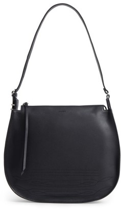 Allsaints Cooper Lea Calfskin Leather Hobo - Black $328 thestylecure.com