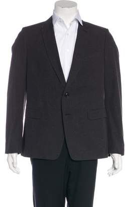 Dries Van Noten Two-Button Speckled Blazer