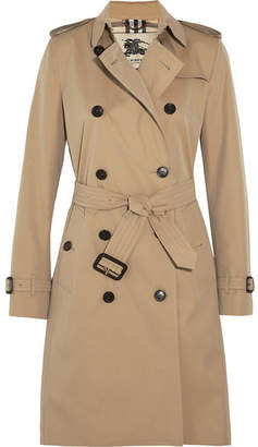 Burberry The Kensington Long Cotton-gabardine Trench Coat - Sand