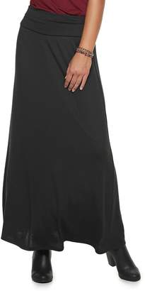 Juniors' Joe B Cinched Solid Hatchi Maxi Skirt