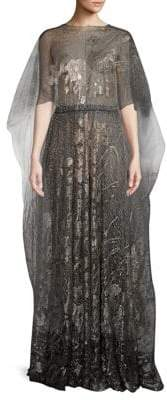 Valentino Embroidered Sheer Gown