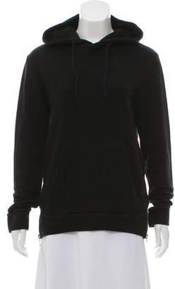 Balmain Zip-Accented Hoodie Sweatshirt