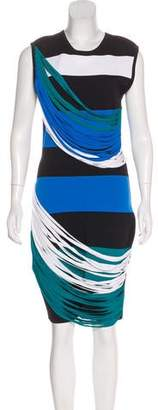Ohne Titel Striped Bodycon Dress
