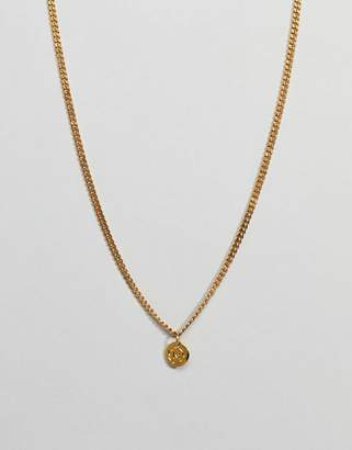 Mister Micro Curb Necklace In Gold