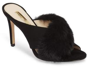 Louise et Cie Halloway Genuine Rabbit Fur Sandal