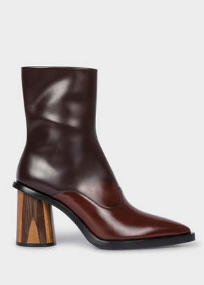 Paul Smith Women's Chocolate Brown Ombre Leather 'Maura' Boots