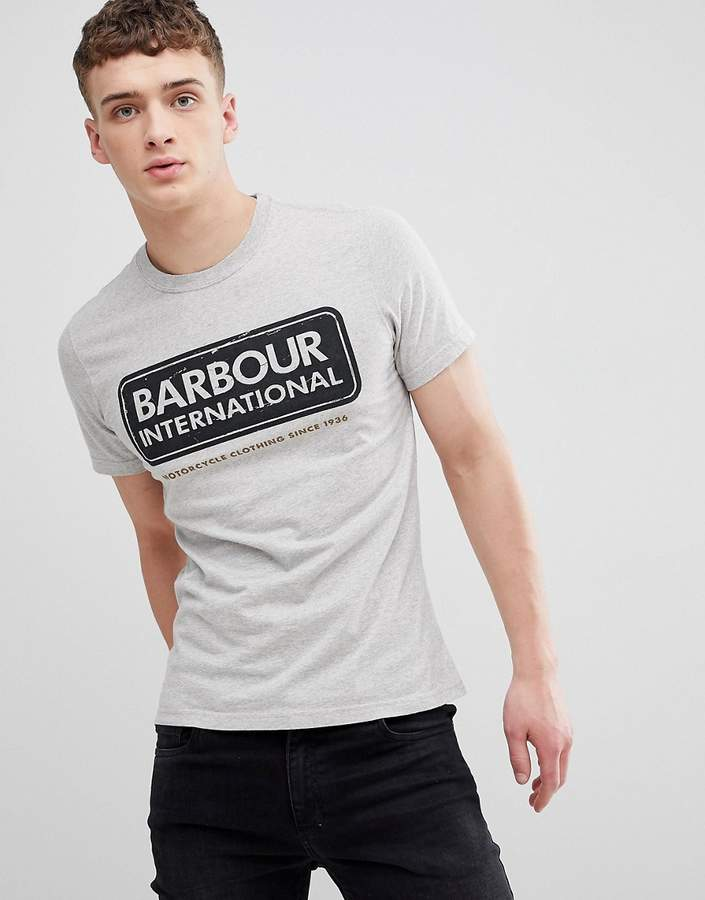 Barbour International Barbour – International – Graues T-Shirt mit International-Logo