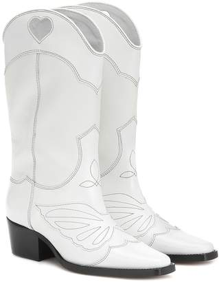 Ganni Exclusive to Mytheresa leather cowboy boots
