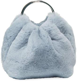The Row Double Circle Micro Fur Top Handle Bag
