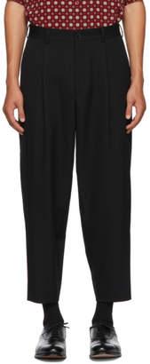 Comme des Garcons Homme Deux Black Wool Trousers