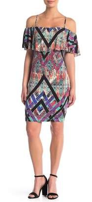 Tart Alessandra Cold Shoulder Print Dress
