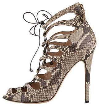 Giambattista Valli Caged Snakeskin Sandals