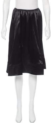 Celine Satin Knee-Length Skirt w/ Tags