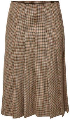 A.P.C. Nina Gingham Pleated Midi Skirt