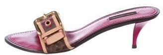 Louis Vuitton Leather Slide Sandals