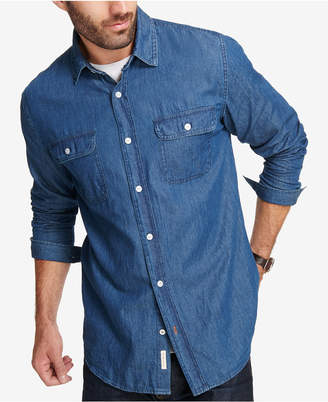Weatherproof Vintage Men Indigo Denim Shirt