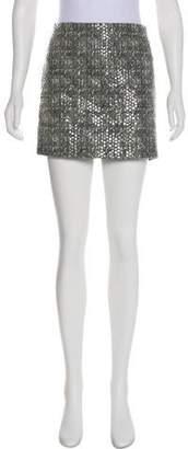 Alice + Olivia Tweed Mini Skirt