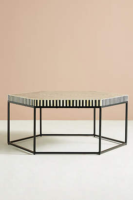 Anthropologie Hexagonal Inlay Coffee Table