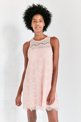 Kimchi Blue Sheer Yoke Mini Lace Shift Dress $79 thestylecure.com