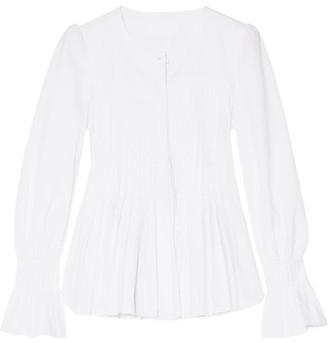Co - Pleated Cotton-poplin Shirt - White $525 thestylecure.com