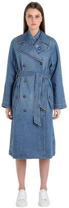 Cotton Denim Trench Coat Gigi Hadid $295 thestylecure.com