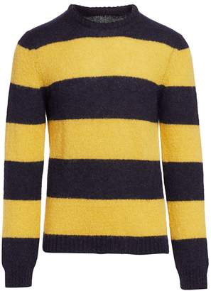 Nominee Fuzzy Striped Crewneck Sweater