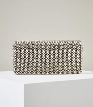 Reiss ZOEY EMBELLISHED CLUTCH BAG Silver
