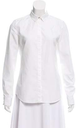 CNC Costume National Silk Button-Up Top