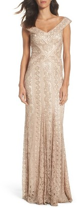 Women's Tadashi Shoji Sequin Gown $508 thestylecure.com
