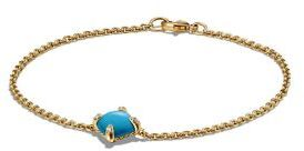 David Yurman Chatelaine Bracelet with Turquoise and Diamonds in 18K Gold $1,100 thestylecure.com