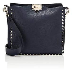 Valentino Women's Rockstud Small Leather Hobo Bag - Blue