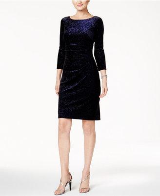 Jessica Howard Metallic-Dot Ruched Velvet Dress $109 thestylecure.com