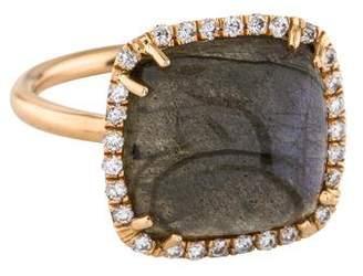Irene Neuwirth 18K Labradorite & Diamond Halo Ring