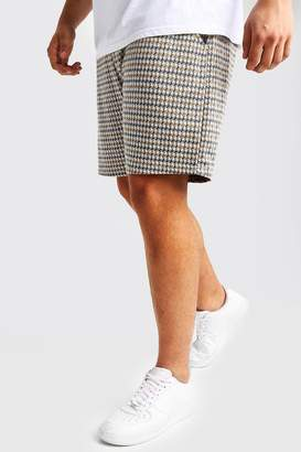 boohoo Big & Tall Jacquard Tape Detail Mid Length Short