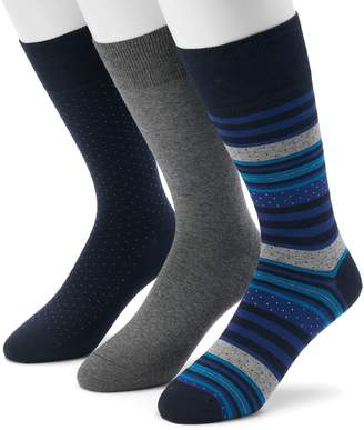 Marc Anthony Men's 3-pack Striped, Dot & Solid Crew Socks
