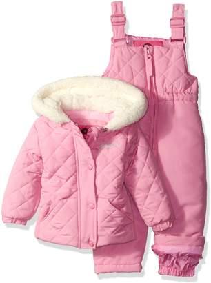 Weatherproof Baby Girls' Jacket and Snowsuit Set