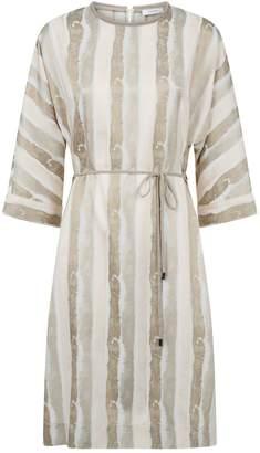 Peserico Satin Stripe Dress