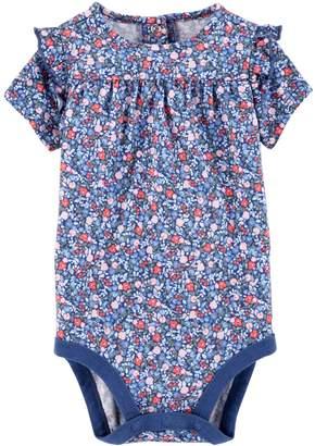 Osh Kosh Oshkosh Bgosh Baby Girl Printed Ruffle Bodysuit
