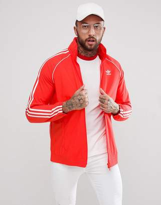 adidas adicolor Superstar Track Jacket In Red CW1310