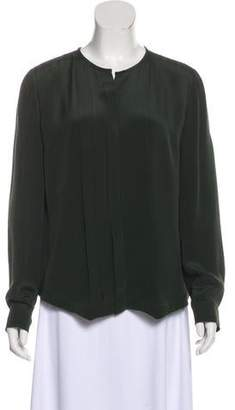 Derek Lam Silk Long Sleeve Blouse