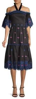 Temperley London Calligraphy Cotton Dress