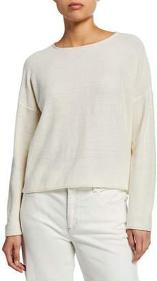Eileen Fisher Round-Neck Reclaimed Hemp/Cotton Sweater