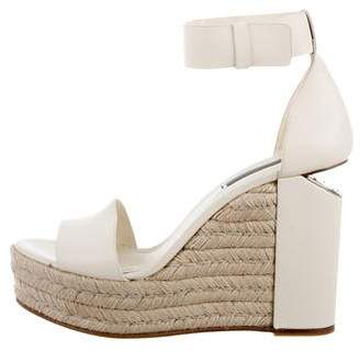 Alexander Wang Leather Wedge Sandals