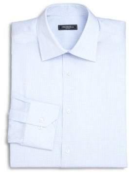 Saks Fifth Avenue Micro Check Print Dress Shirt