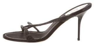 Rene Caovilla Jewel-Embellished Slide Sandals