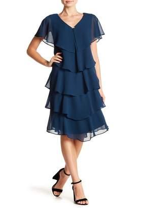 SL Fashions Ruffle Tiered Dress