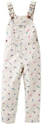 Osh Kosh Oshkosh Bgosh Toddler Girl Feather Print Denim Overalls