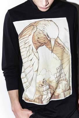 3.1 Phillip Lim Raven Spirit Animal Long-Sleeve Pullover