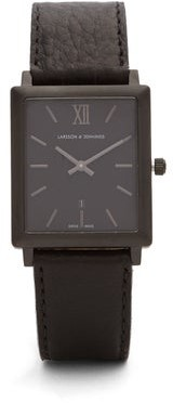 Larsson & Jennings Norse Stainless Steel And Leather Watch - Mens - Black